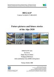 REGALP Future pictures and future stories of the Alps 2020