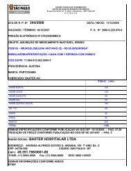 RAZÃO SOCIAL: BAXTER HOSPITALAR LTDA CNPJ: 49.351.786 ...