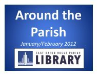 Around the Parish, Jan. and Feb. in 90 seconds, more or less