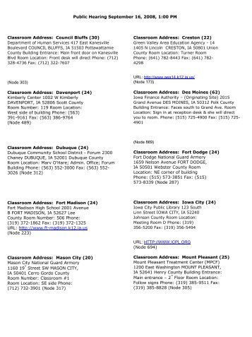 ICN Sites for Public Comment - Iowa Finance Authority
