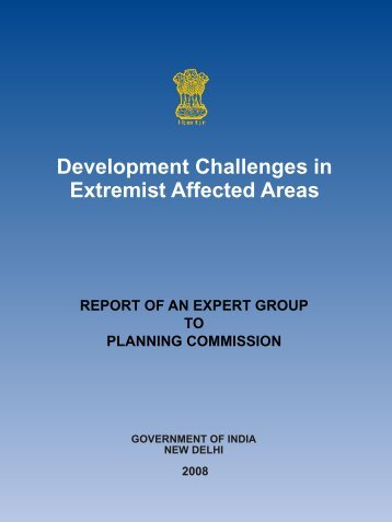 Development Challenges in Extremist Affected Areas - of Planning ...