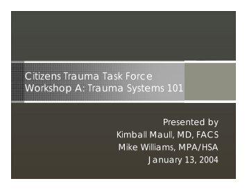 Trauma Systems 101 - Southern Nevada Health District