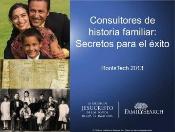 Consultores de historia familiar: Secretos para el éxito