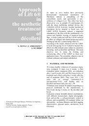 Approach of Lift 6® in the aesthetic treatment of décolleté - LPG