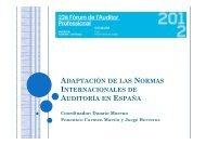 Adaptación de las NIAs en España