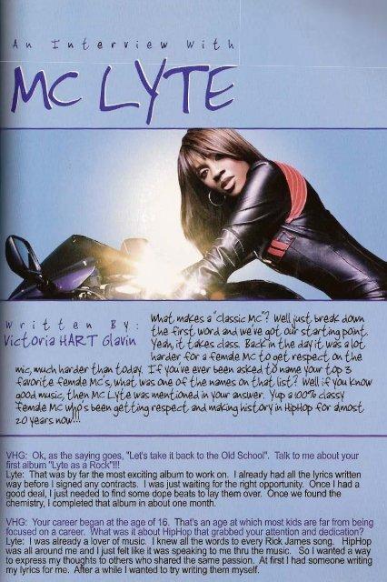 MC Lyte - Victoria Hart Glavin