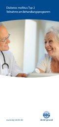 Diabetes mellitus Typ 2 Teilnahme am Behandlungsprogramm