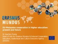 EU-Malaysian cooperation in higher education: present and Future