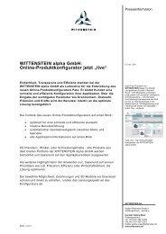WITTENSTEIN alpha GmbH: Online ... - Wittenstein AG