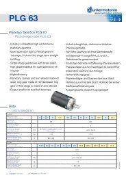 Planetary Gearbox PLG 63 - Dunkermotoren