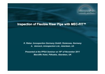 Download Slides (PDF 1.4MB) - PPSA, the Pigging Products and ...