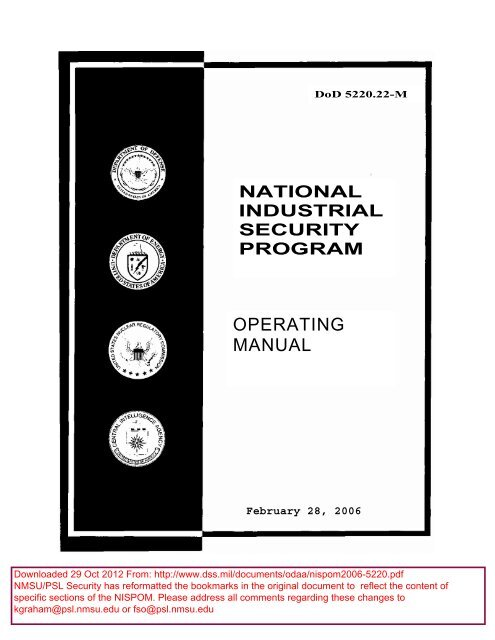 Best selling] national industrial security program operating manual….