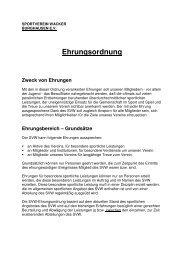 Ehrungsordnung Zweck von Ehrungen - Verein.sv-wacker.de