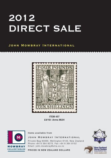 2012 Direct Sale - Mowbray Collectables
