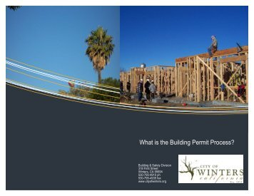 What is the Building Permit Process? - City of Winters