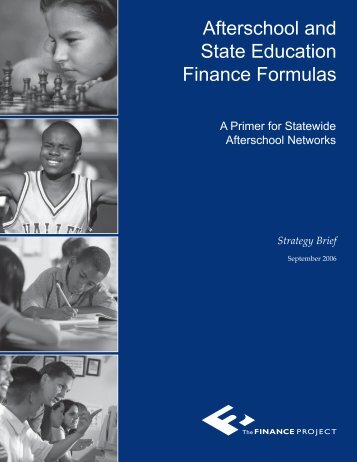 Afterschool and State Education Finance Formulas - Statewide ...