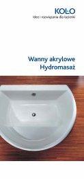 Wanny akrylowe Hydromasaż - KOŁO Partner - Sanitec Koło