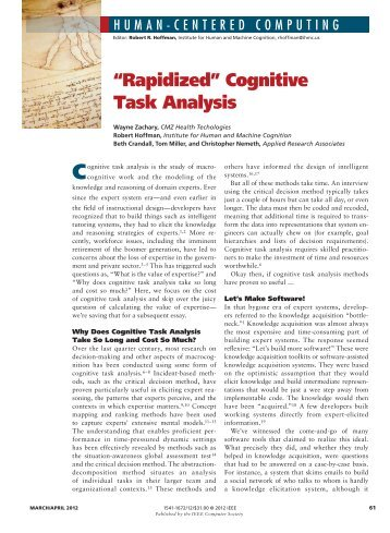 """""""Rapidized"""" Cognitive Task Analysis - Applied Research Associates ..."""