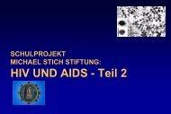Schulvortrag zu HIV & AIDS - Michael Stich Stiftung