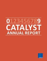 2009 Catalyst Annual Report