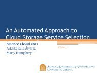 An Automated Approach to Cloud Storage Service Selection