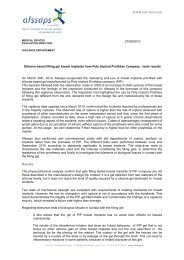 On March 29th, 2010, Afssaps suspended the marketing and ... - Ipras