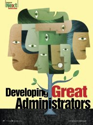 Developing Great Administrators One Teacher at a Time - National ...