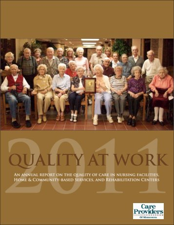 2011 Quality At Work - Care Providers of Minnesota