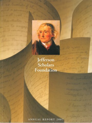 Class of 2007 - Jefferson Scholars Foundation