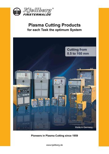Plasma Cutting Products - Kjellberg Finsterwalde