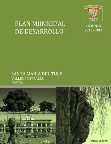 plan municipal de desarrollo santa maria del tule - Secretaria de ...
