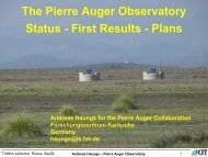 Haungs – Pierre Auger Observatory