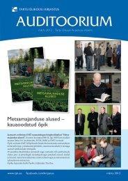 Auditoorium - märts 2012 - Tartu Ülikooli Kirjastus