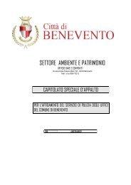 SETTORE AMBIENTE E PATRIMONIO - Comune di Benevento