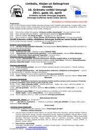 Limbažu, Alojas un Salacgrīvas novadu 10. Grāmatu svētki Umurgā ...