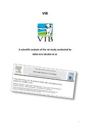 A scientific analysis of the rat study conducted by Gilles-Eric ... - VIB
