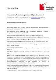 eGovernment, Prozessmanagement und Open Government