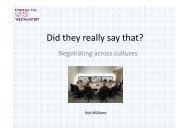 Negotiating Across Cultures - Rob Williams - Emita