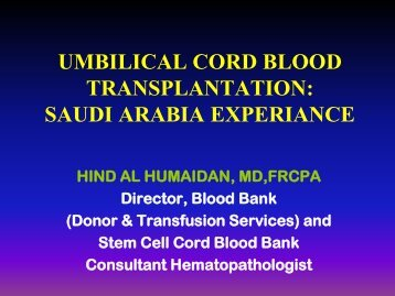 umbilical cord blood transplantation - Qf-research-division.org