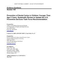 Prevention of Dental Caries in Children Younger Than Age 5 Years ...