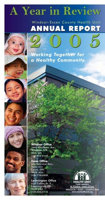 Annual Report 2005 Final.qxp - Windsor Essex County Health Unit