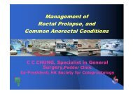 Management of Rectal Prolapse, and Common Anorectal Conditions