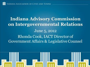 Attachment D - Indiana Advisory Commission on Intergovernmental ...
