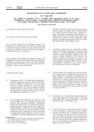 Regolamento (CE) n. 916/2007 della Commissione, del 31 luglio 2007