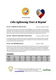 Cebu Sightseeing Tours 2012 - DIVAISHNAVI Travel & Tours, Inc.