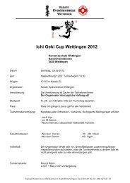 Einladung IFK – Kumite – Schweizermeisterschaft 2004 - Karate ...
