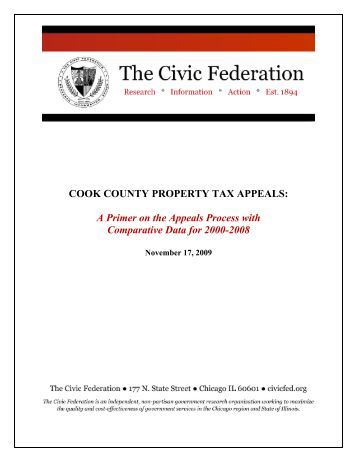 COOK COUNTY PROPERTY TAX APPEALS - The Civic Federation