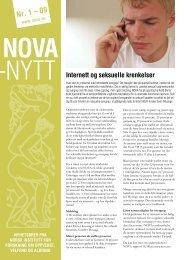 Last ned NOVA-nytt nr. 1, 2009 (pdf