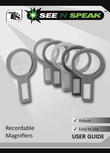 Recordable Magnifiers USER GUIDE - SpaceKraft
