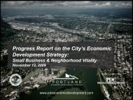 Quarterly Report Pt. 2 - Portland Economic Development Strategy